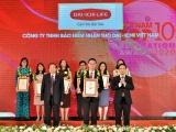 """Dai-ichi Life Việt Nam vinh dự đạt """"Top 10 Công ty Bảo hiểm Nhân thọ uy tín năm 2020"""""""