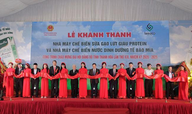 Thanh Hóa: Khánh thành Nhà máy chế biến sữa gạo lứt và Nhà máy chế biến nước dinh dưỡng tế bào mía